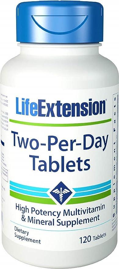 Life Extension - Tabletas del Dos-Por-Día - 120 tabletas
