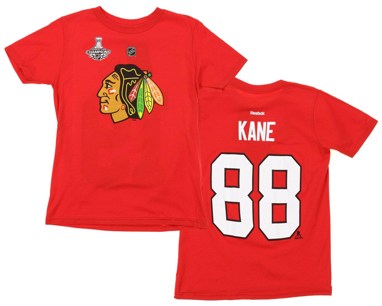 NHL Big Boys Youth Chicago Blackhawks Patrick Kane #88 Player Tee, Red Reebok