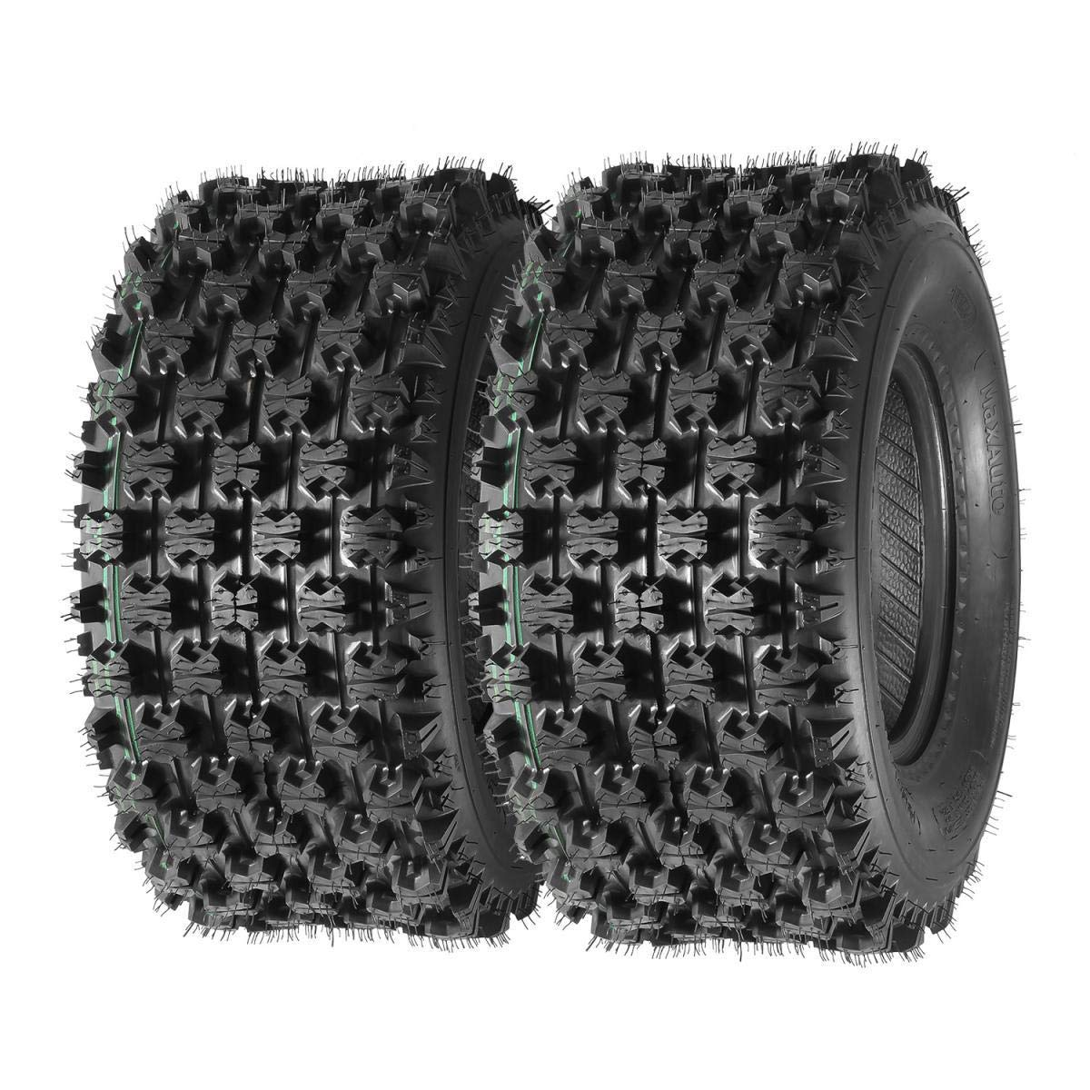 Set of 2 Sport ATV Tires AT 22x10-10 22x10x10 P357 4PR by MaxAuto