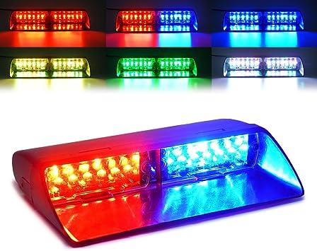 PESIC Green High Intensity 16 led Emergency Dash Warning Strobe Flash Light