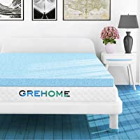 Deals on Grehome 2-Inch Gel Infused Memory Foam Mattress Topper Twin