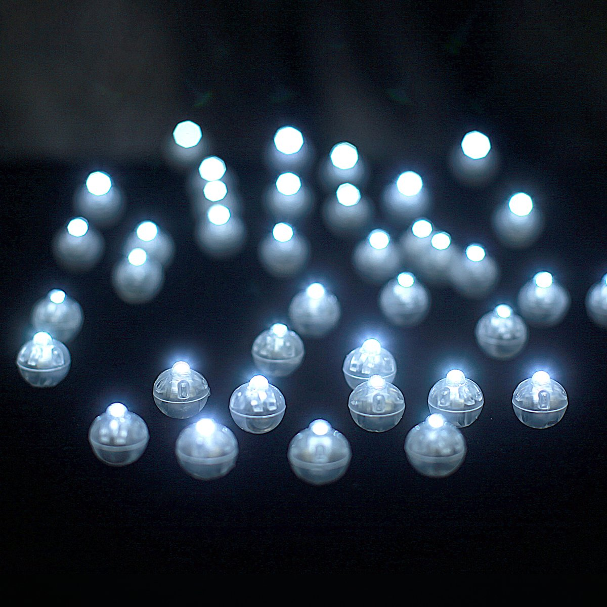 Amy Basic (100 Pcs) White Round Led Flash Ball Lamp for Paper Lantern Balloon Party Wedding ,Party Birthday and Festival Decorative Lights