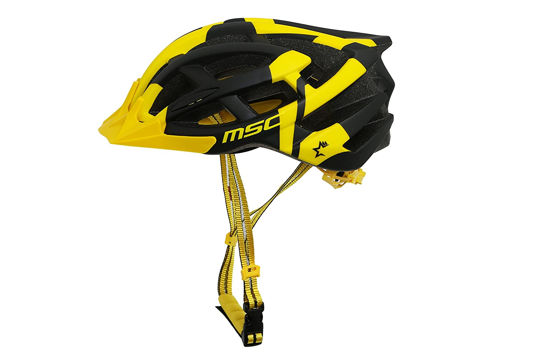 Negro y Amarillo S//M MSC Bikes HX100SMBKYE Casco de MTB 55cm-58cm