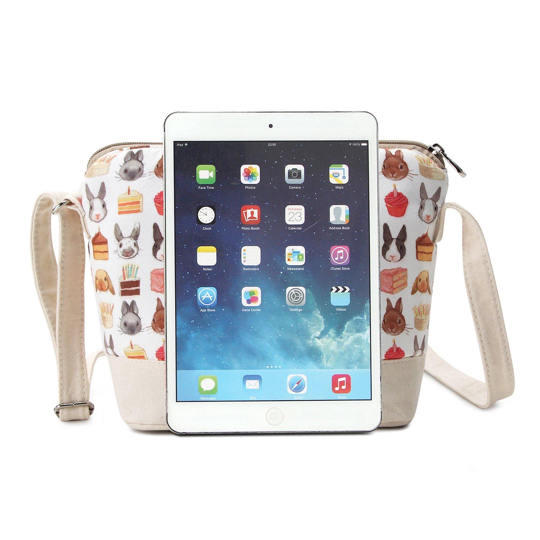 aa65f56b2 Crest Design Cute Canvas Crossbody Bag Shoulder Bag Purse for Girl and  teenage (Beige Pets): Handbags: Amazon.com