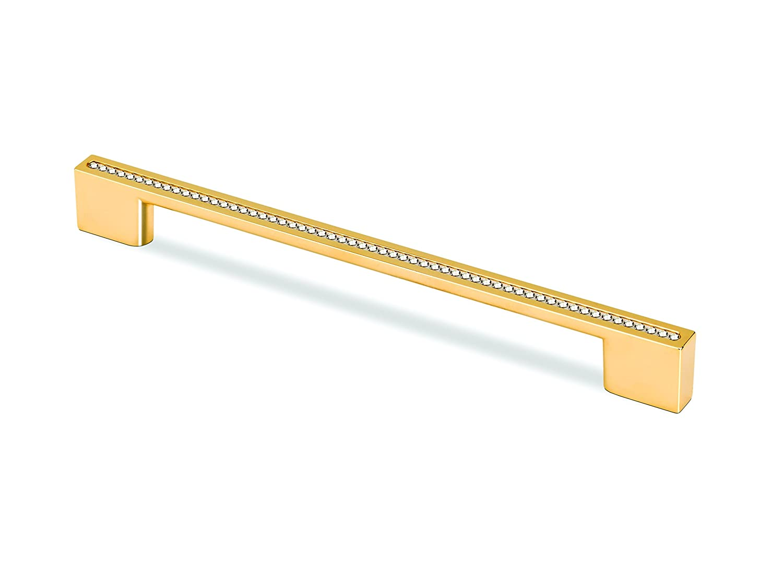 Gold Gold TOPEX HARDWARE M3805.160192ORZSWA TOPEX HARDWARE M3805.160192ORZSWA Rectangular Pull with Swarovski Crystals