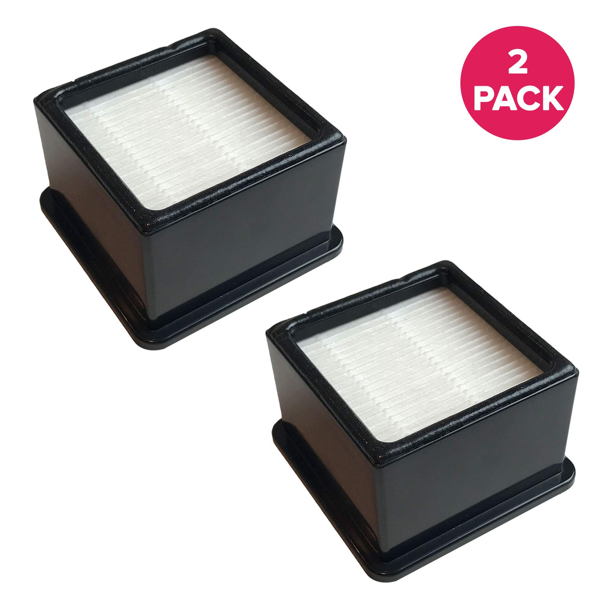 Crucial Vacuum Replacement Air Filters - Compatible with Dirt Devil F-43 Easy Lite Cyclonic Bagless Foam Vacuum Cleaner Filter - HEPA Style Part - Replace Parts #F43 2PY1105000 1PY1106000 (2 Pack)