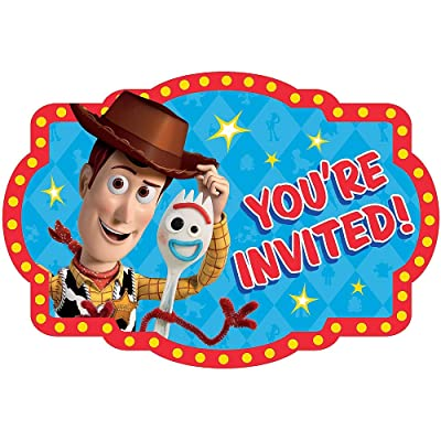 Toy Story 4 Invitations Postcard Birthday Party Invite, Seals and Save the Date Stickers Supplies Pack of 16: Toys & Games