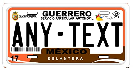 Amazon.com: Guerrero Mexico Placas License Plate: Car ...