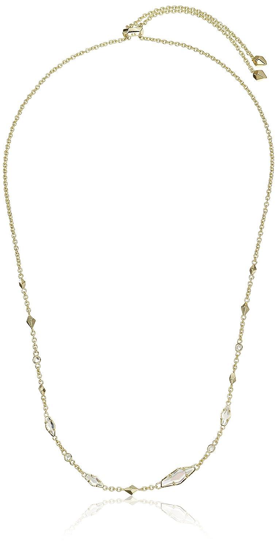 9f17b71dddd81b Amazon.com: Kendra Scott Debra Gold Iridescent Rock Crystal Cubic Zirconia  Necklace, 28