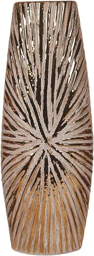 Straits 35cm Tall Copper Etched Flower Vase Table Vase Amazon Co Uk Kitchen Home