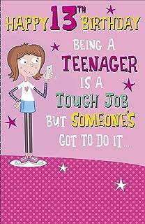 Jonny Javelin Girl Age 13 Birthday Card Amazoncouk Electronics