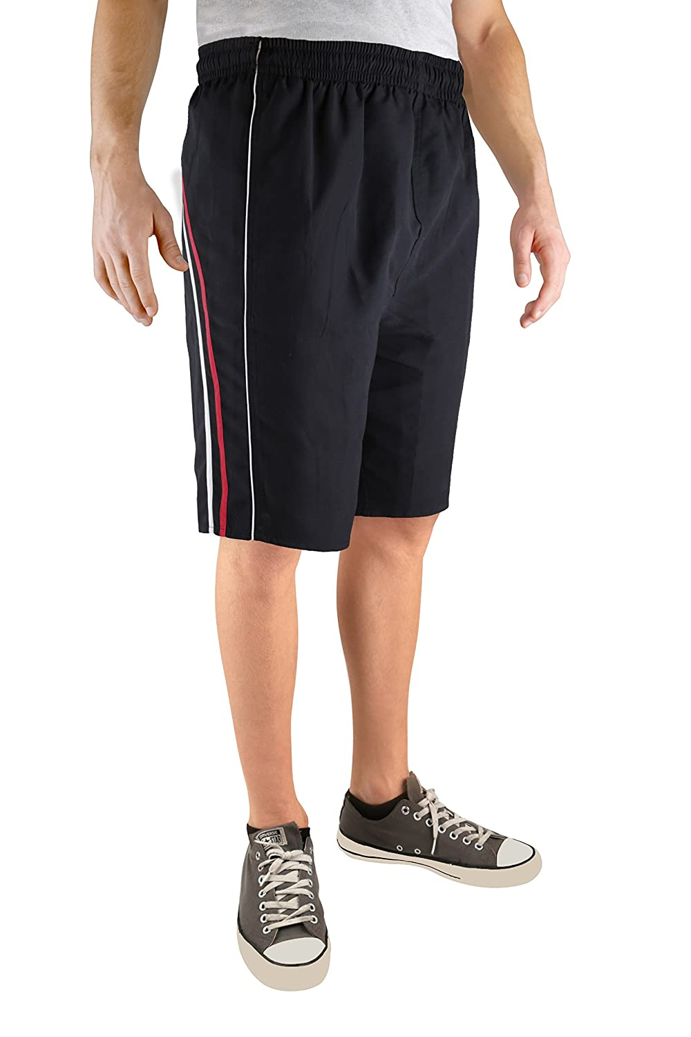 North 15 Men's Board Beach Swim Trunks Shorts with Pokcets-5105-Rd-Md