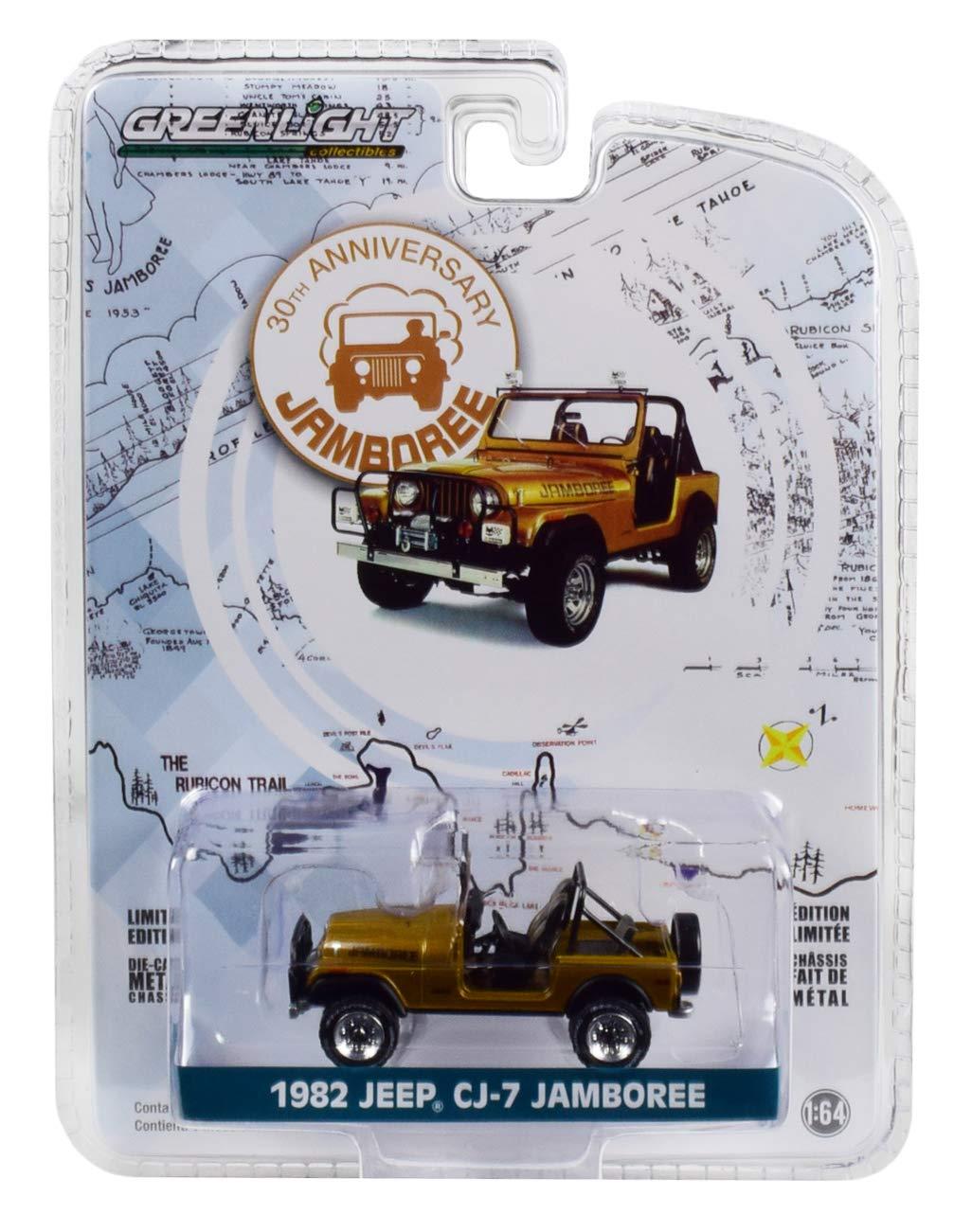 Anniversary Collection Series 7 1//64 Diecast Car by Greenlight 27970 D 1982 Jeep CJ-7 Jamboree Gold 30th Anniversary Jamboree Commemorative Ed