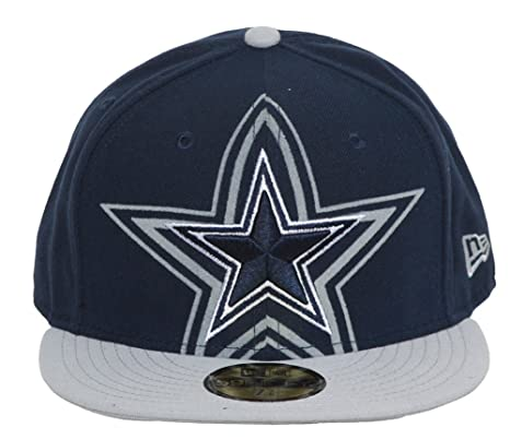 e25f119a5 Image Unavailable. Image not available for. Color  Men s New Era Dallas  Cowboys Over Flock 59Fifty Structured Fitted Hat ...
