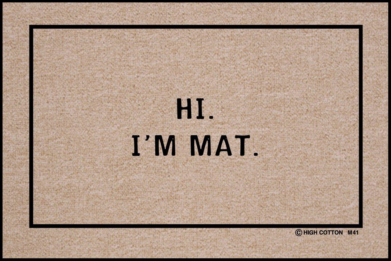 Hi I\u0027m Mat Indoor/Outdoor Doormat  sc 1 st  Amazon.com & Amazon.com: Doormats - Outdoor Décor: Patio Lawn \u0026 Garden