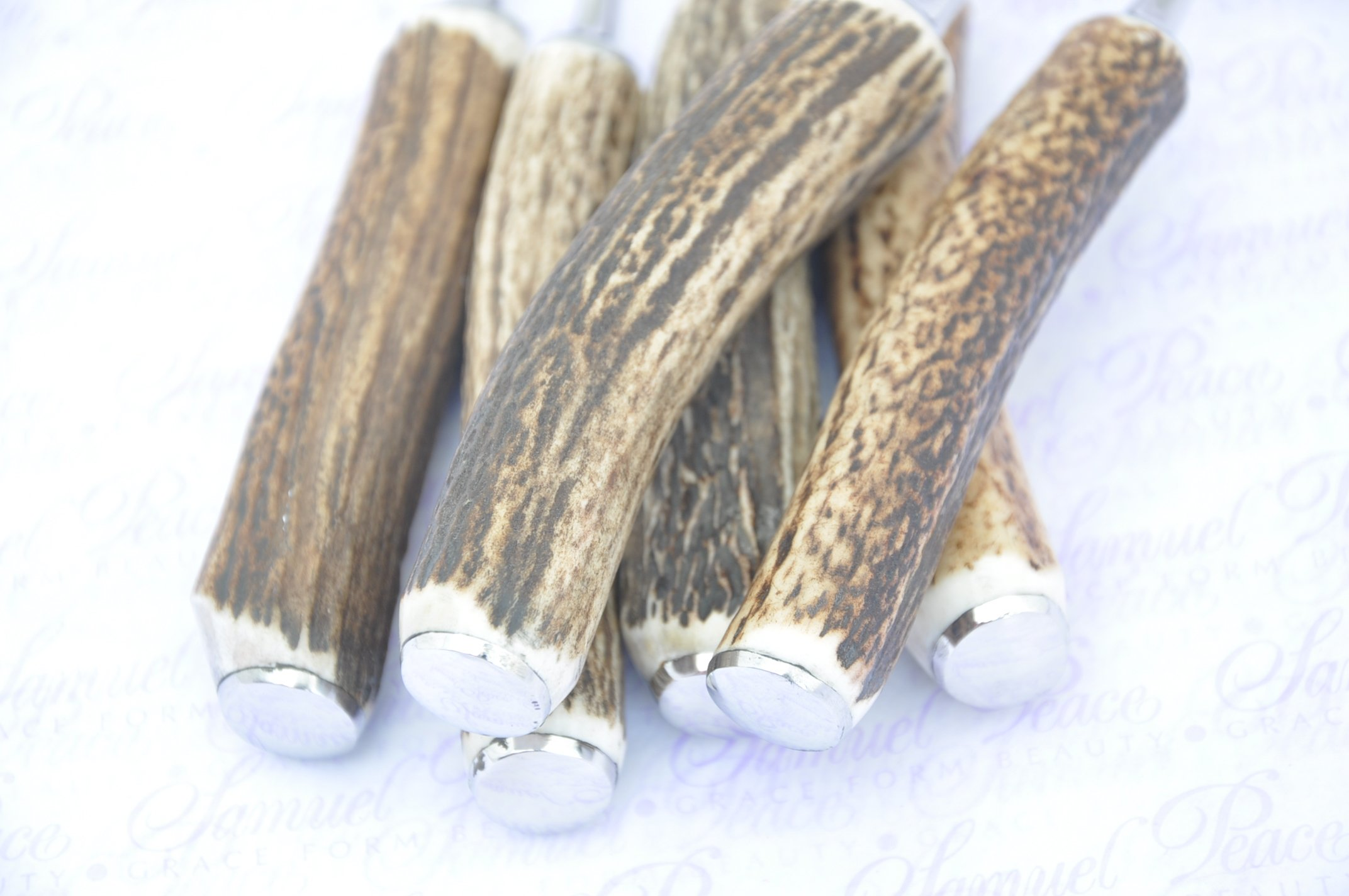 Six Genuine Stag Horn/Antler Handle Table Forks Boxed Made In Sheffield England by Sheffieldcutleryshop (Image #9)
