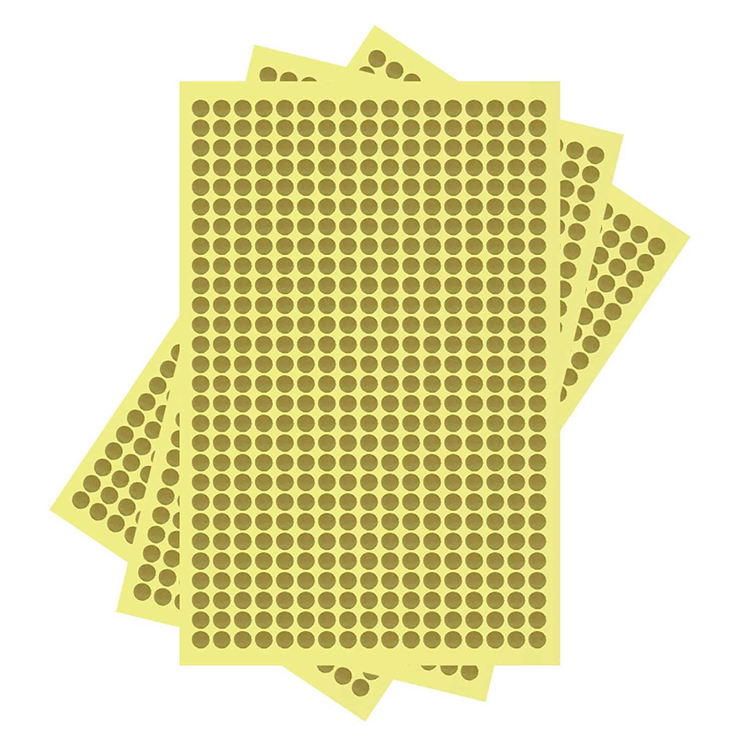 6mm Round Dots 10 Sheets 4000 Dots Self Adhesive Stickers Brown