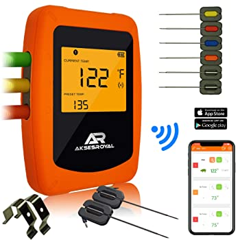 AKSESROYAL Wireless Meat Thermometer