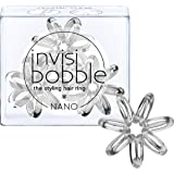 invisibobble Nano Crystal Clear, 1er Pack (1 x 3 Stück)