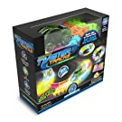 Mindscope Twister Tracks Neon Glow in The Dark 221 Piece (11 feet) of Flexible Assembly Track Race Series