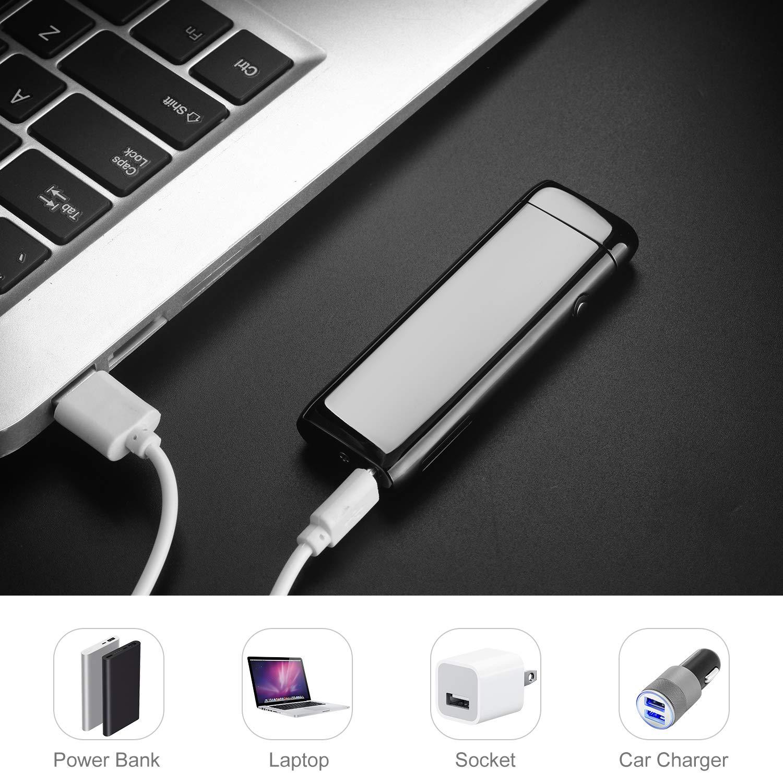 Saibit Encendedor eléctrico, Encendedor electrónico USB de Doble ...
