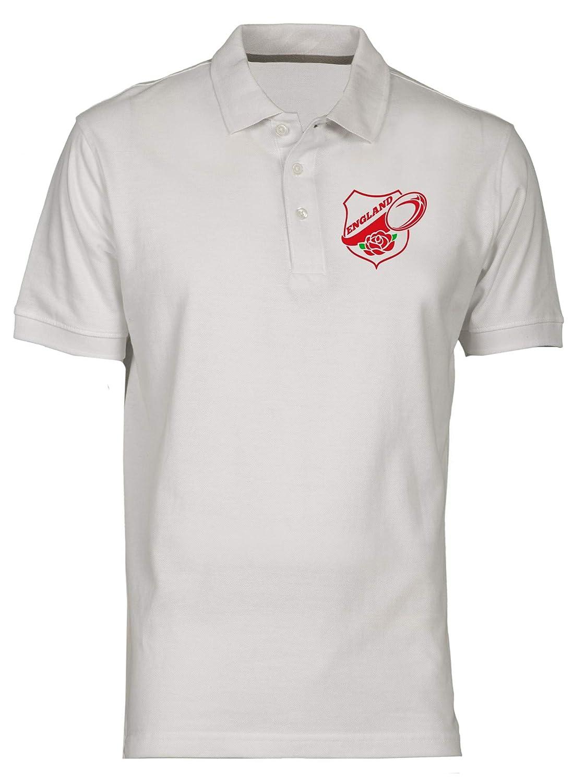 Polo por Hombre Blanco TRUG0044 Rugby England: Amazon.es: Ropa y ...