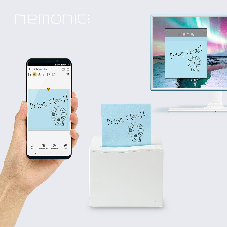MANGOSLAB Nemonic Notizzettel-Drucker Coconut Wei/ß