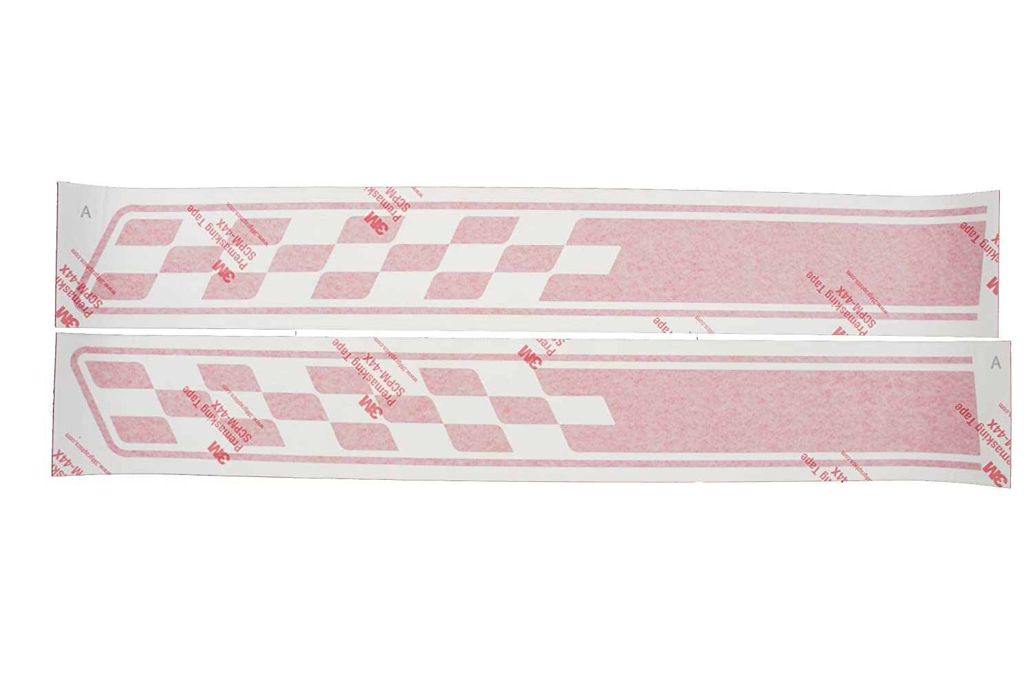 Fiat Genuine Accessories 82212658 Red Racing Double Stripes Roof Decal Kit 500//500C