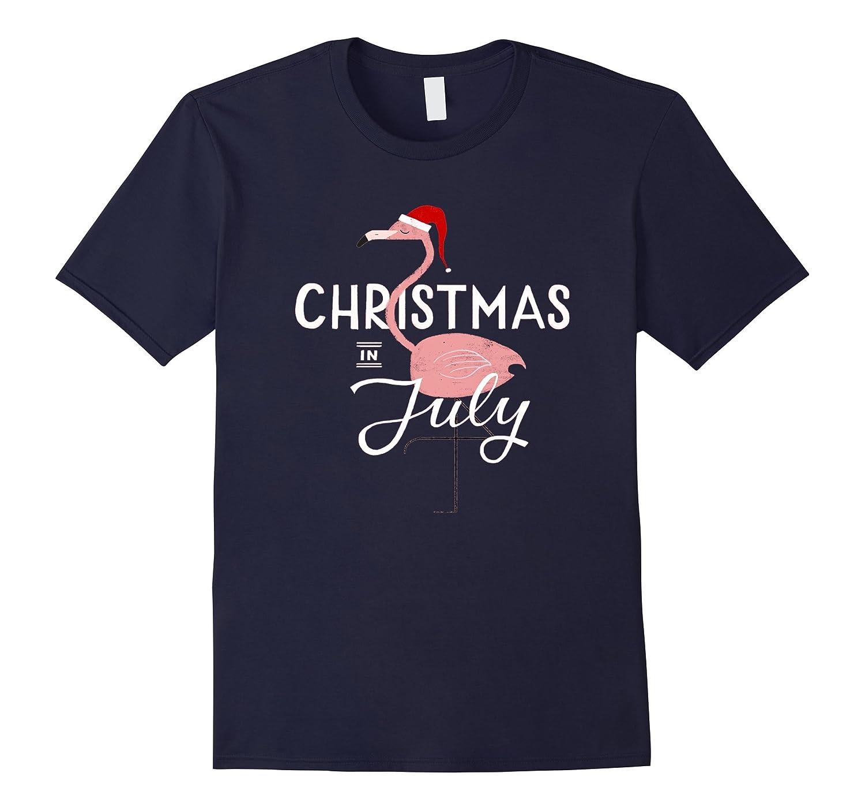 Christmas Flamingo In July T-Shirt-Art