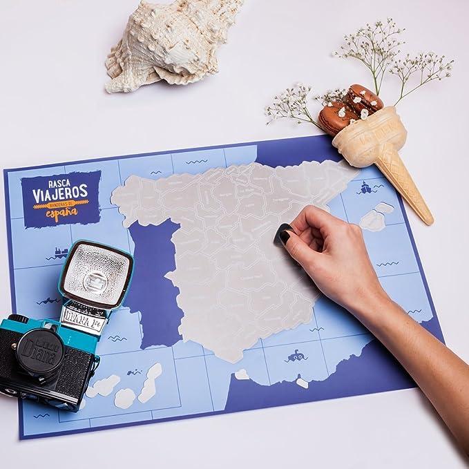 Rasca Viajeros Mapa rascable España Transparente: Amazon.es: Hogar