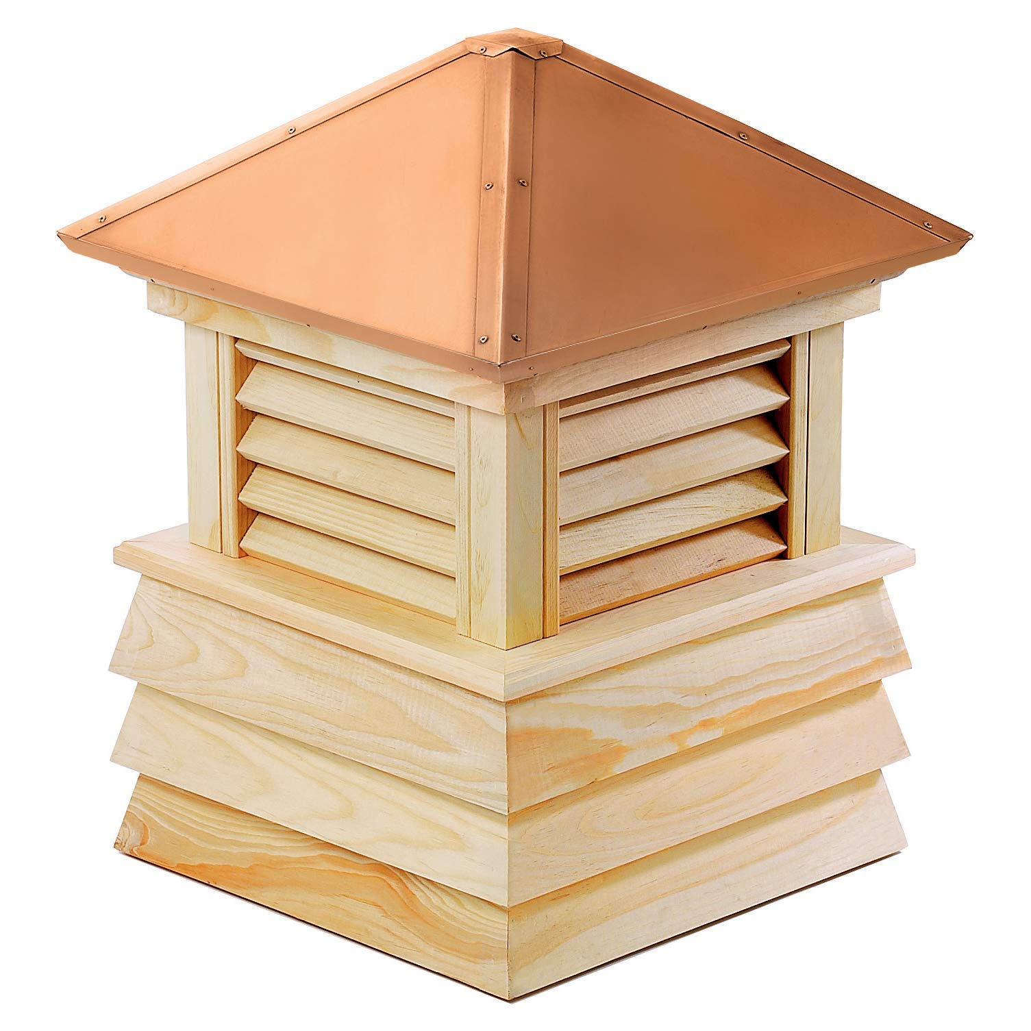 Good Directions Dover Wood Shiplap Cupola with Copper Roof 26'' x 35''