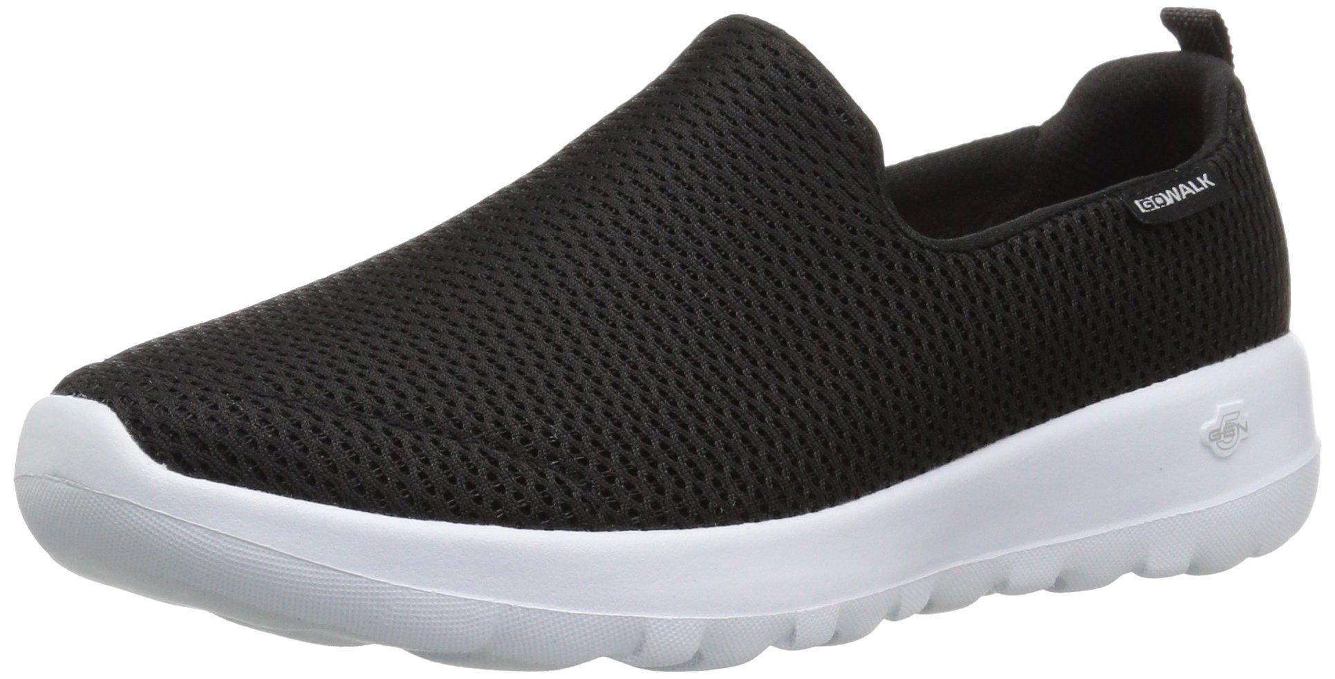 Skechers Performance Women's Go Walk Joy Walking Shoe,black/white,5 W US by Skechers (Image #1)
