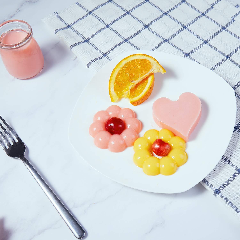 Senbowe Silicone Donuts Baking Mold- Set of 4 | Silicone Cake Baking Molds,| Round Doughnut-shape (6) | Flower-shape(6)| Snowflake-shape (6)|Non Stick Baking Molds Set | Oven & Dishwasher Safe by senbowe (Image #6)