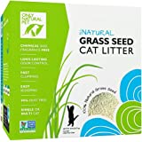 Only Natural Pet Fast Clumping Cat Litter Non GMO Grass Seed All Natural Kitty Litter, Single or Multi Cat, Unscented