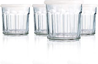 product image for Luminarc N7593 Working Glass Storage Jar with Lids, 14 Ounce, Set of 4, Clear