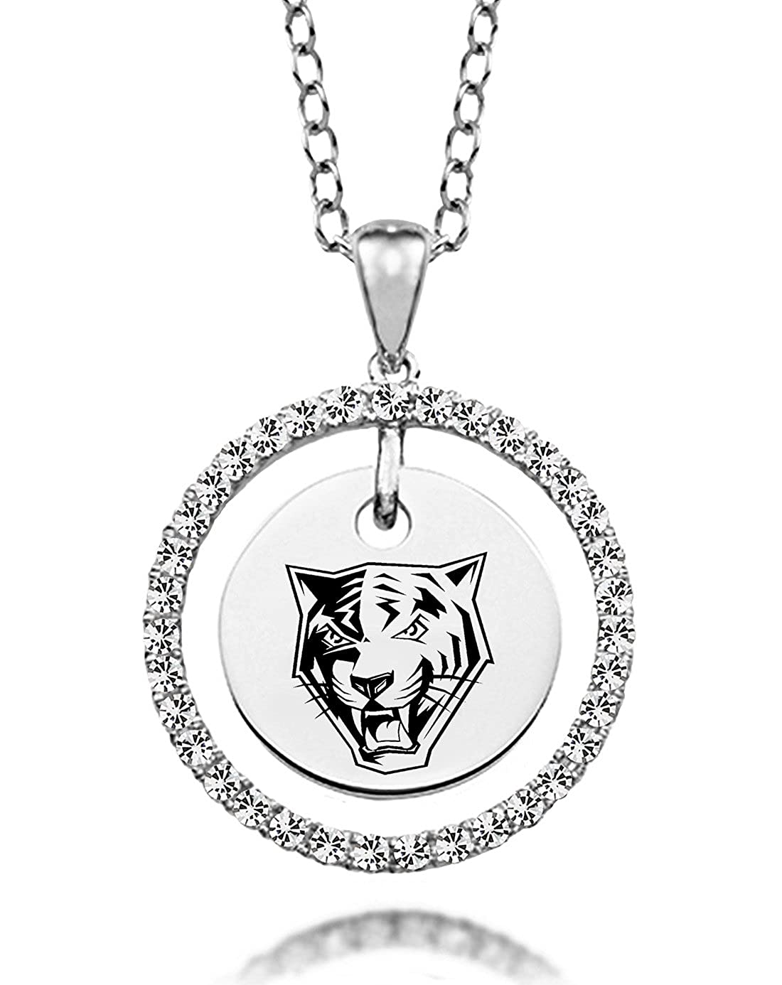 Buffalo State Bengals White Cz Circle Necklace