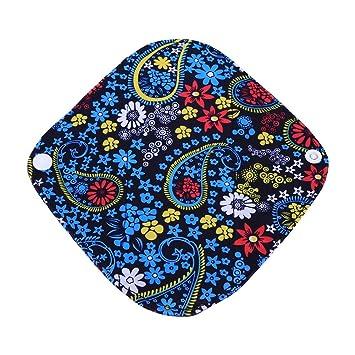 GLOGLOW Almohadillas Menstruales, 11 Patrones Reutilizables Lavable Panty Liner Tela de Bambú Servilletas Sanitarias Carbón Capa Exterior(WSD2): Amazon.es: ...