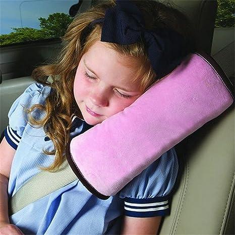 Da.Wa Auto Almohada del cinturón de Seguridad del Coche Proteja Hombro Almohada cojín Amortiguador del vehículo Ajuste del cinturón de Seguridad para ...