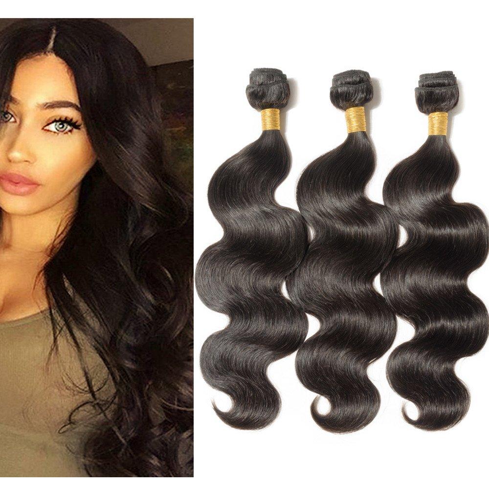 My-Lady 7A 14 14 14 300g/pack Capelli Veri Tessitura Matassa Brasiliani Unprocessed Extension Human Hair UK-Fashion-Shop