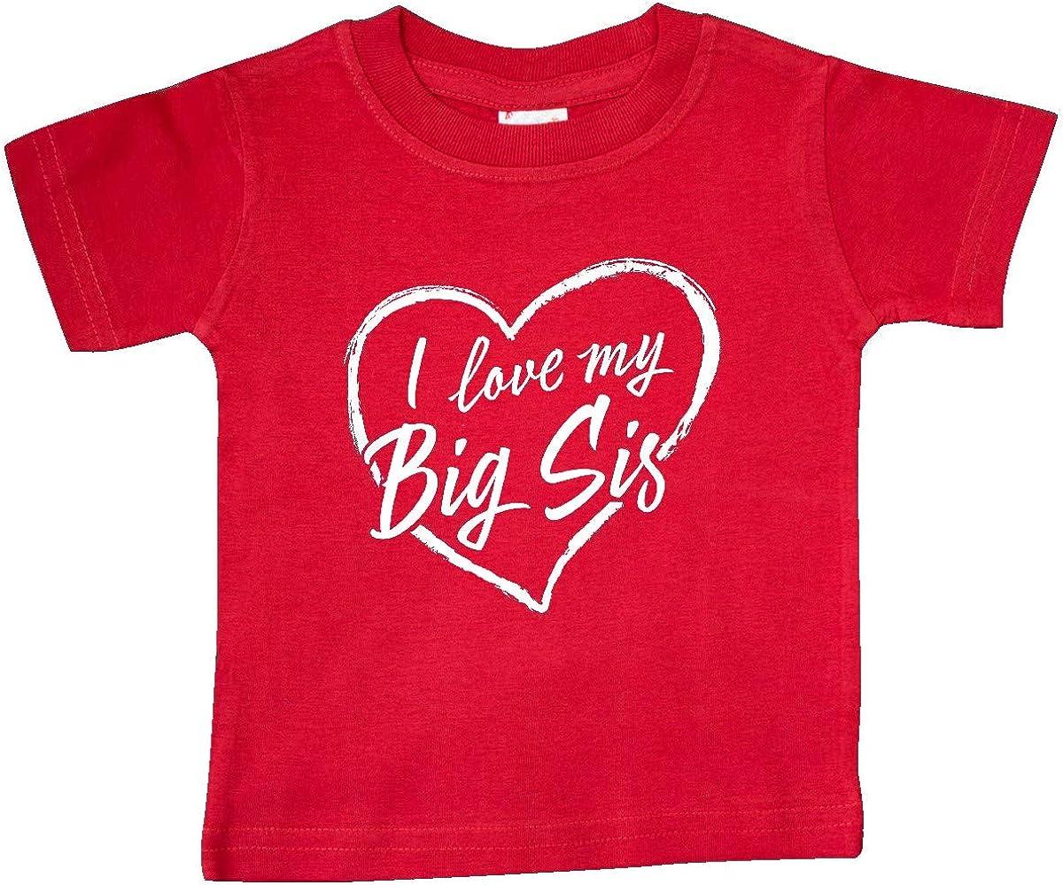 inktastic I Love My Big Sis in White Chalk Heart Baby T-Shirt