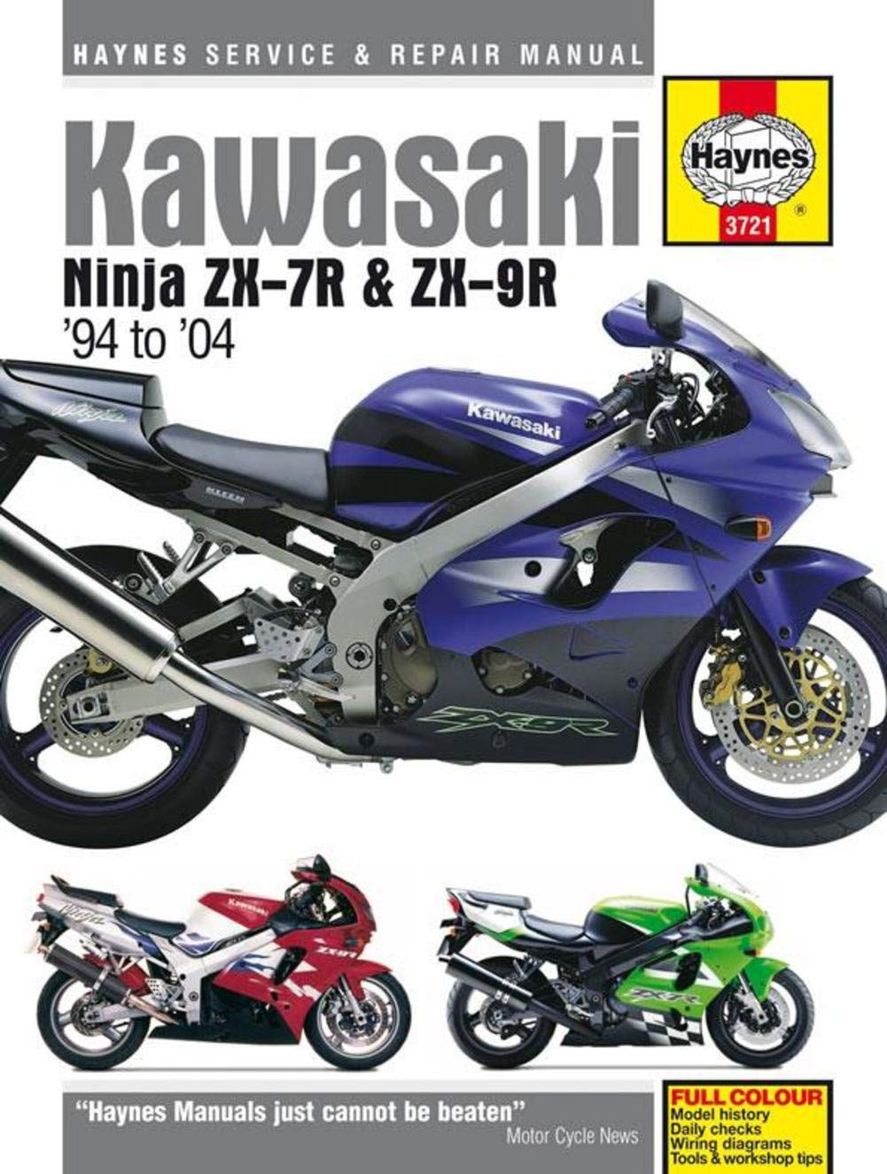 Amazon.com: Kawasaki Ninja ZX-7R and ZX-9R Haynes Repair Manual (1994 -  2004): Automotive