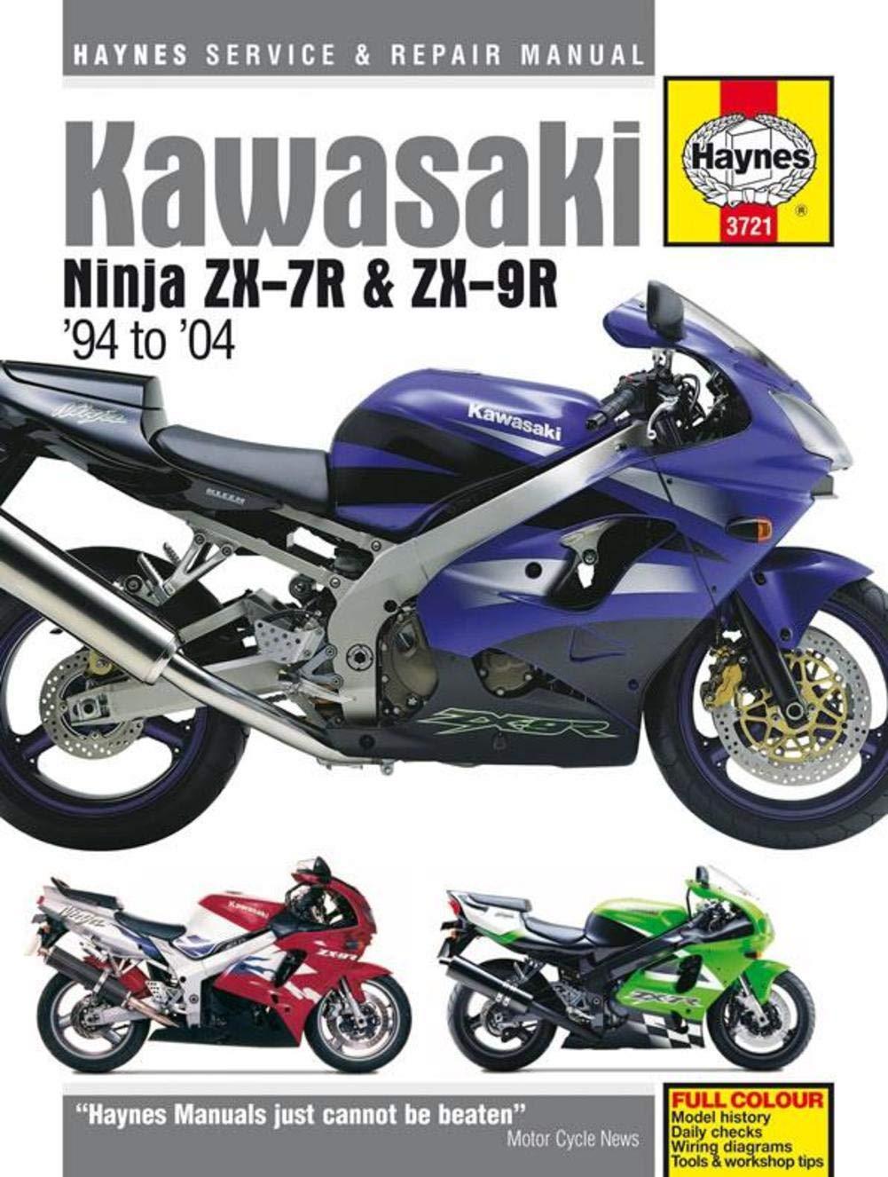Kawasaki Ninja Zx 7r And 9r Haynes Repair Manual Zx11 Wiring Diagram 1994 2004 Automotive