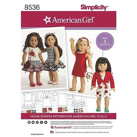 Amazon.com: Simplicity Sewing Pattern 8536 - American Girl 18\