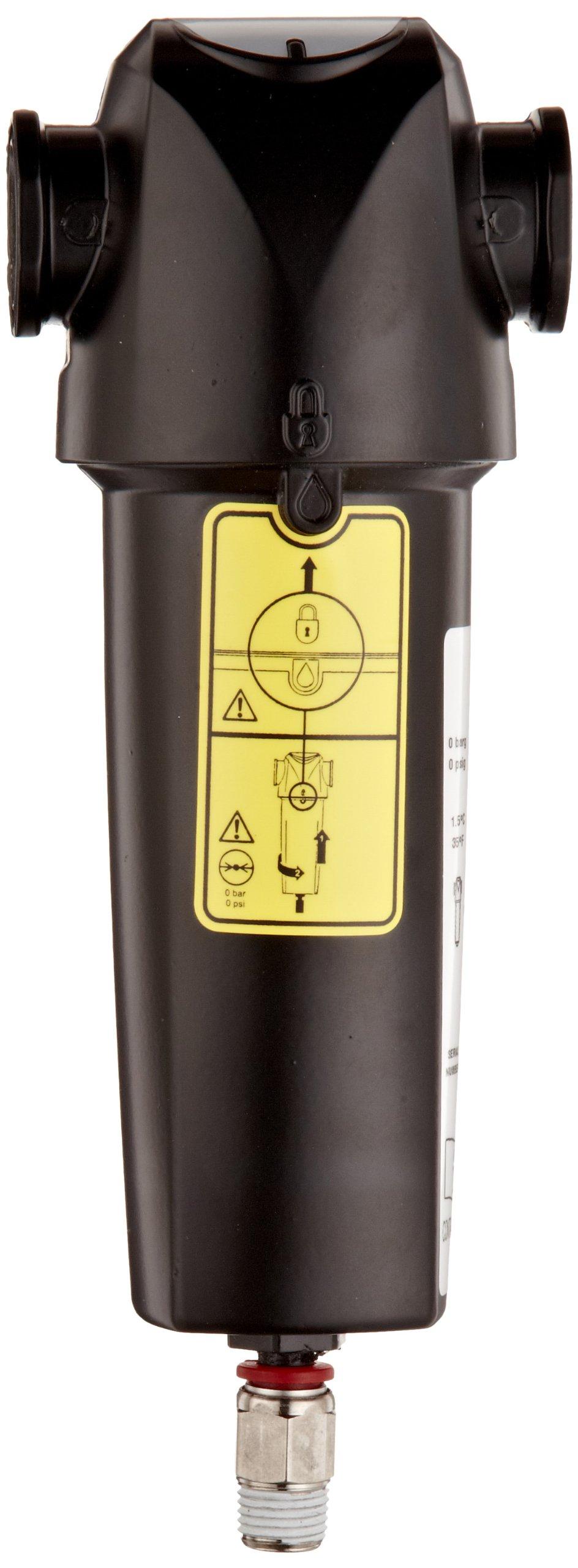 Parker WS010CNFX/US Oil-X Evolution Water Separator, Float Drain, 21 scfm, 1/2'' NPT