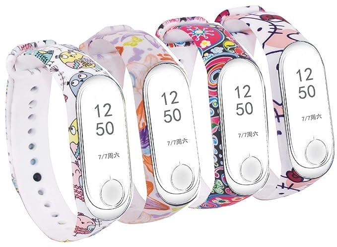 Amazon.com: Huamecl for Xiaomi Mi Band 3 Straps Bands,Soft ...