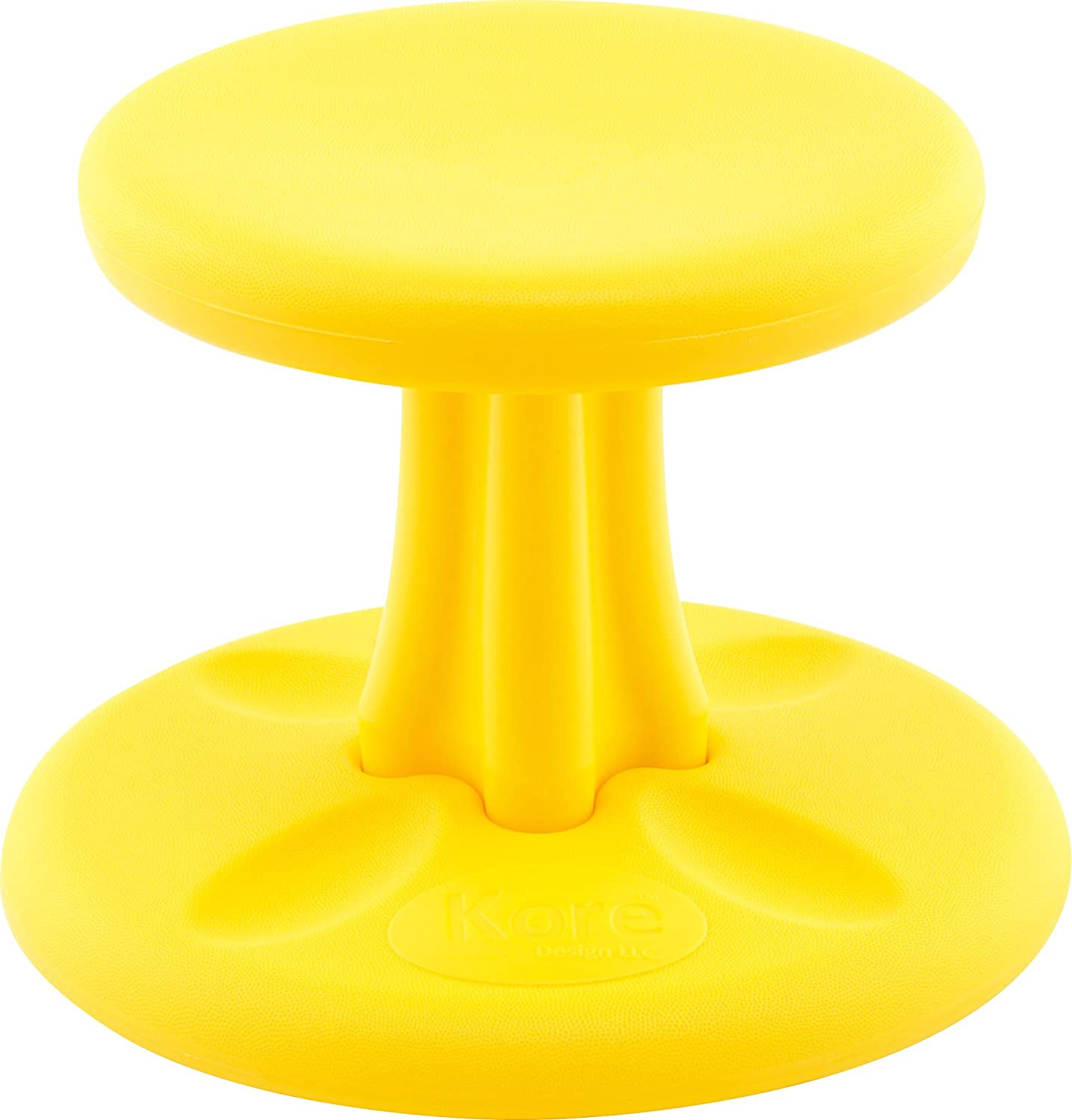 Kore Wobble Chair - Flexible Seating Stool for Toddlers, Age Range 2-3, Now with Antimicrobial Protection - Yellow (10in Tall)