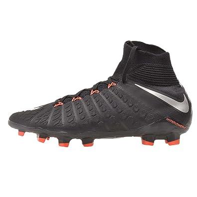 new arrival e8851 7e596 Nike Kid's JR Hypervenom Phantom 3, Black/Metallic Silver - Black, Youth  Size 4.5