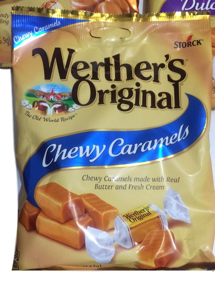Amazon.com : Werthers Original Caramels, Chewy, Apple, Creamy, Coffee, Dulce Del Leche (Pack of 5)  : Grocery & Gourmet Food