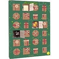 """chocri """"Veganer Adventskalender"""" mit 24 veganen Mini-Schokoladen-Tafeln ohne tierischen Produkten mit winterlichen Zutaten wie Goji Beeren und Ingwer - perfektes Geschenk für Frauen, die vegan sind"""