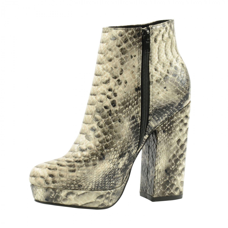 Botines con estampado serpiente de los años 70, color negro: Amazon.es: Zapatos y complementos